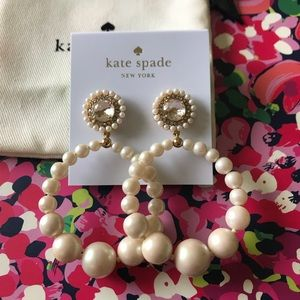 Kate Spade Pearl Hoop Earrings